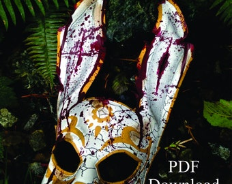 Leather rabbit splicer mask PDF Template  - Digital Leather full Rabbit splicer mask Pattern from Bioshock