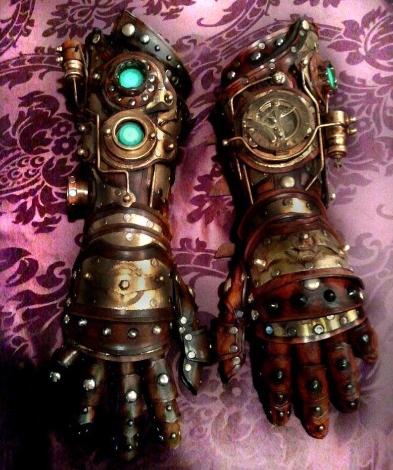 Steampunk Gauntlet Bracer Glove Etsy