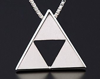 Triforce Pendant in Sterling Silver from The Legend of Zelda (BITCOIN ACCEPTED)