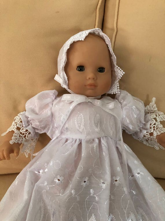 "18/"" Doll Clothes Christening Wedding  Dress Gown Outfit fits American Girl Doll"