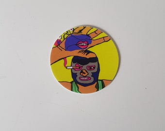 "The Parts Unknown el mago amargo 2"" circle sticker"