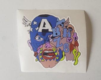 "Catnip 'Merica 3"" Limited Edition Die Cut Sticker by Dax Norman"