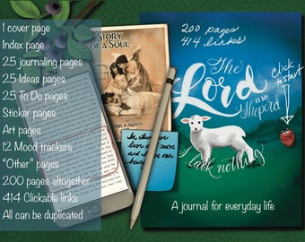 Psalm 23 Journal for GoodNotes