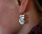 Thick Squiggle Earrings