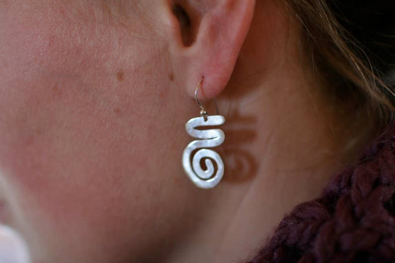 Thick Squiggle Earrings image 0