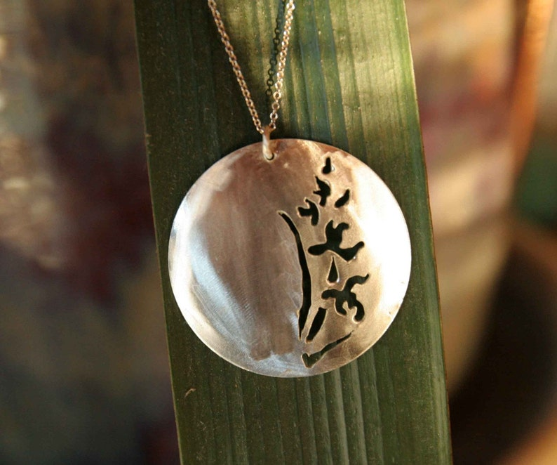 Simple Orchid Necklace image 0