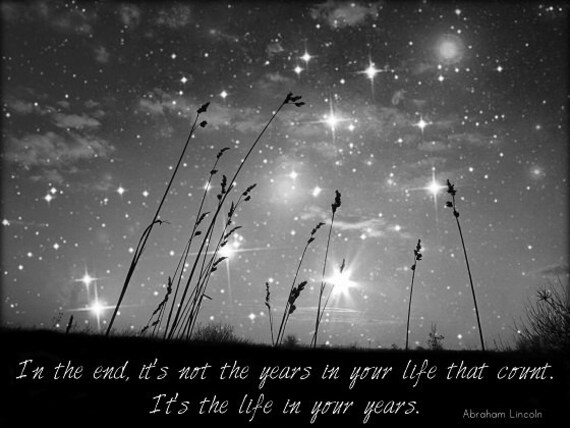 Only The Stars And Mein The End Black And White Nature Etsy