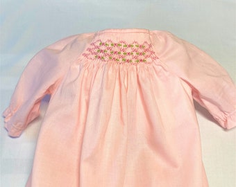 Smocked Daygown Dress for Newborn Babies