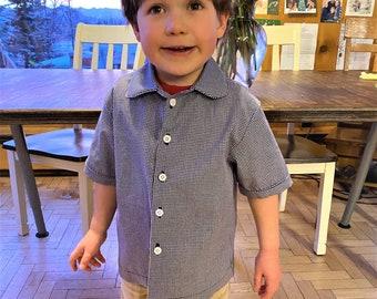 Boy's  Sort Sleeved Shirt