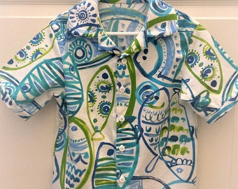 Boy's Fish!  Love it for spring, summer, fall - sizes 2T - 6
