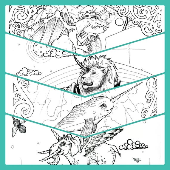 Fantasy/Animals/Nature/Beauty 20 Page Coloring Book PDF