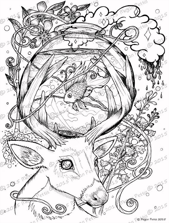 Deer Coloring Book Pages Coloring Pages kinder math test kumon ... | 754x570