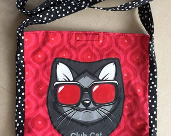 Club Cat tshirt bag