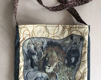 African animals tshirt bag
