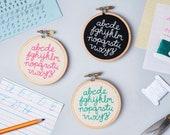 Mini Alphabet Embroidery Kit - diy baby decor