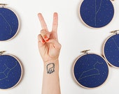 Any Two Zodiac Embroidery Kit - diy constellation embroidery kit