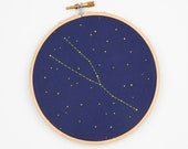 Taurus Zodiac Embroidery Kit - diy constellation embroidery kit, birthday gift, baby gift