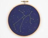Sagittarius Zodiac Embroidery Kit - diy constellation embroidery kit