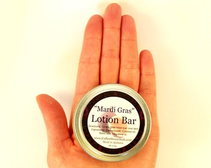 Mardi Gras Lotion Bar - Travel Tin - Free Shipping