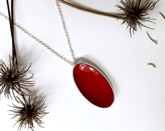 poppy petal necklace