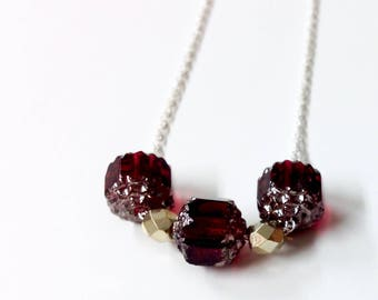 garnet and gold necklace