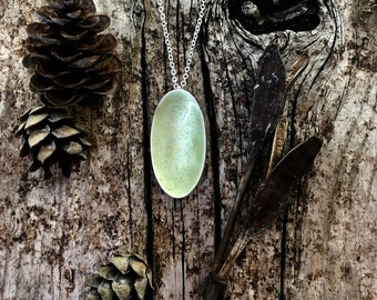 frosted petal necklace