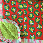 Red and Green Santa Grinch Christmas Blanket - Adult Wrap Around Minky Blanket - Personalization Available