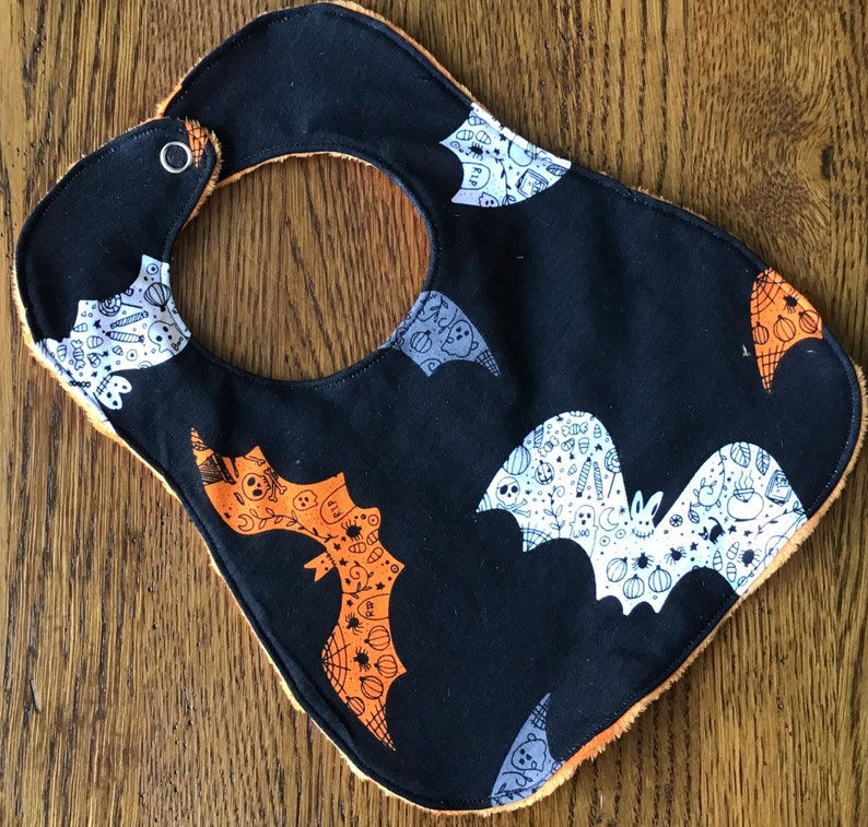 on sale until April 20 ANNUAL BIB SALE New...Halloween Bat Slightly Smaller Infant Only Bib