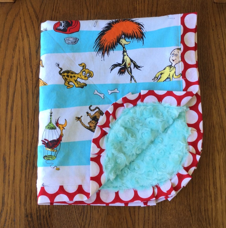 Dr Seuss Pets Minky Blanket...PERSONALIZATION AVAILABLE