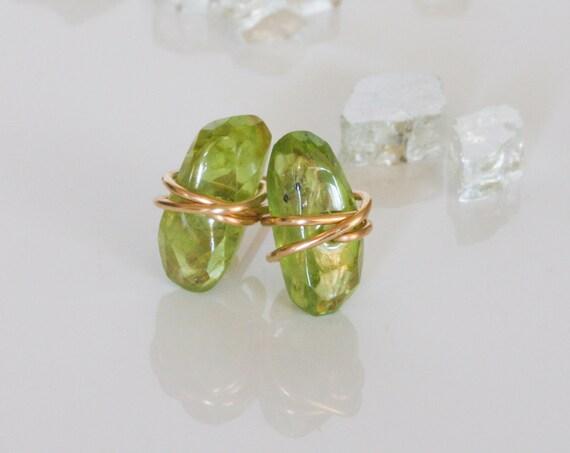 Peridot Stud Earrings, Green Stone Earrings, August Birthstone, Birthstone Earrings, Natural Peridot Earrings