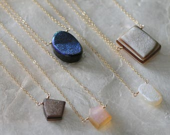 Druzy Necklace, Drusy Necklace, Geode Necklace, Agate Necklace, Druzy Pendant, Drusy Pendant, Geode Pendant, Agate Pendant, Gift for Her