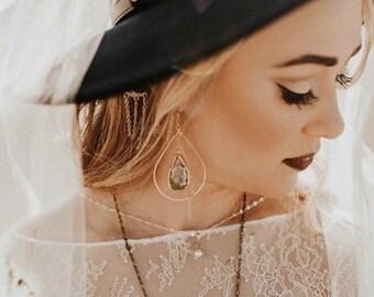 Druzy Earrings, Geode Earrings, Hoop Earrings, Green Druzy Earrings, Hammered Hoop Earrings, Occo Agate Earrings, Gold Dipped Earrings