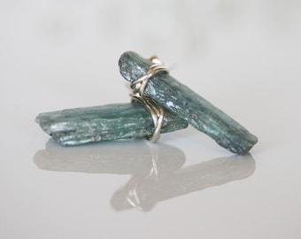 Kyanite Earrings, Blue Kyanite Earrings, Kyanite Crystal Earrings, Raw Kyanite Studs, Crystal Stud Earrings, Blue Kyanite Stud Earrings