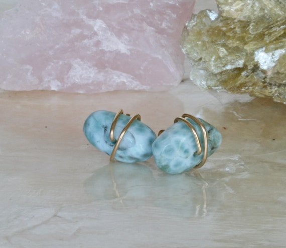 Larimar Stud Earrings