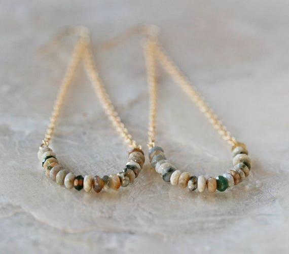 Ocean Jasper Swingy Earrings