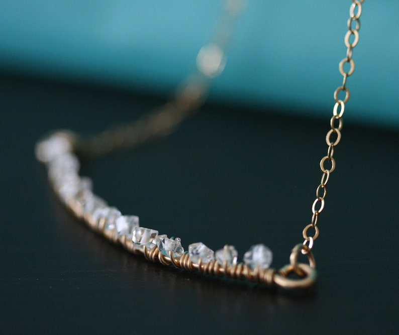 Herkimer Diamond Necklace Crystal Necklace Quartz Necklace image 0