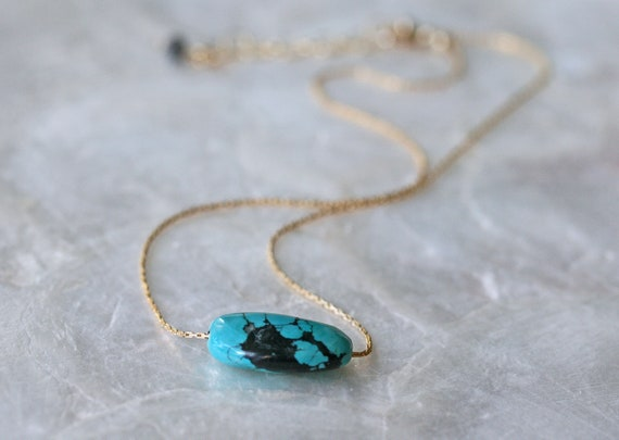 Floating Turquoise Stone Necklace