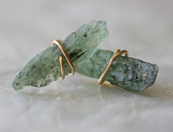 Raw Kyanite Crystal Stud Earrings