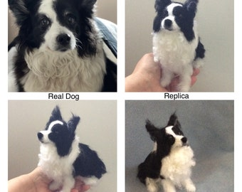 Custom felted Border Collie replica or any dog breed made from your photos