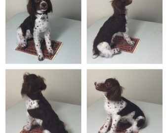 Custom felted dog Brittany Spaniel or any breed type Memorial art