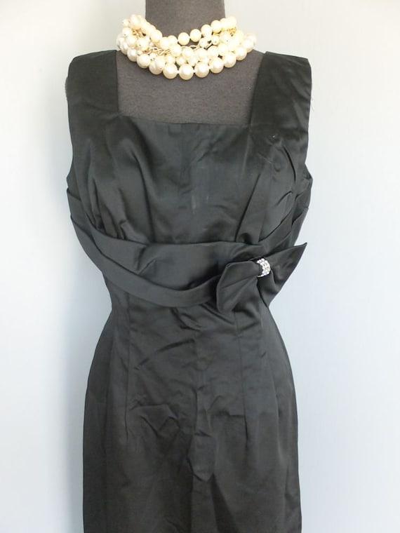 Vintage Dress, Satin, Black, Cocktail, Dinner, Hol