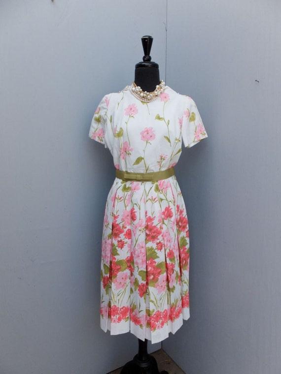 Vintage Vintage Dress, 1950s/60s, Spring Floral, B