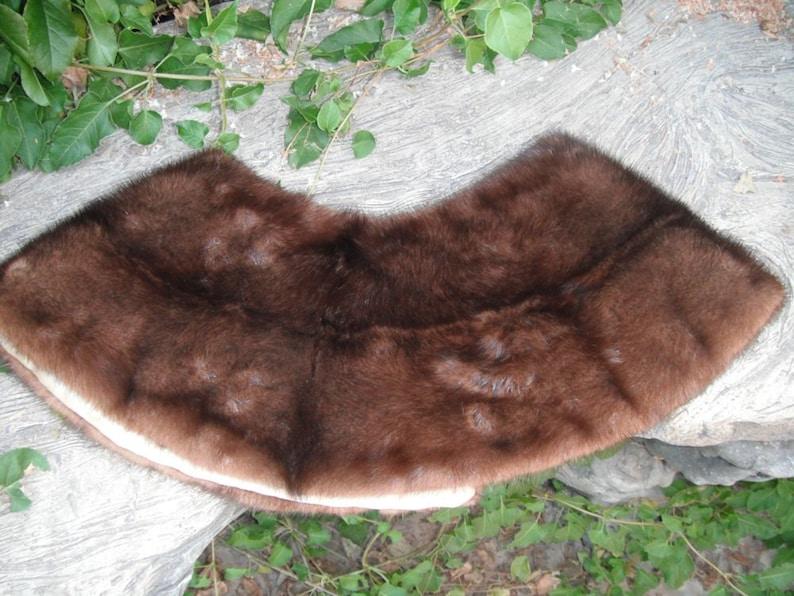 Sweater or Coat Collar Vintage Mink Collar Beautiful Vintage  29 inch Detachable Mink Collar