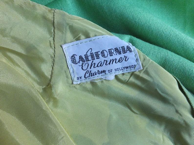 California Charmer by Charm of Hollywood Patricks Day St Green Sleeveless Summer Dress Vintage 1960s70s Sleeveless Shift Dress