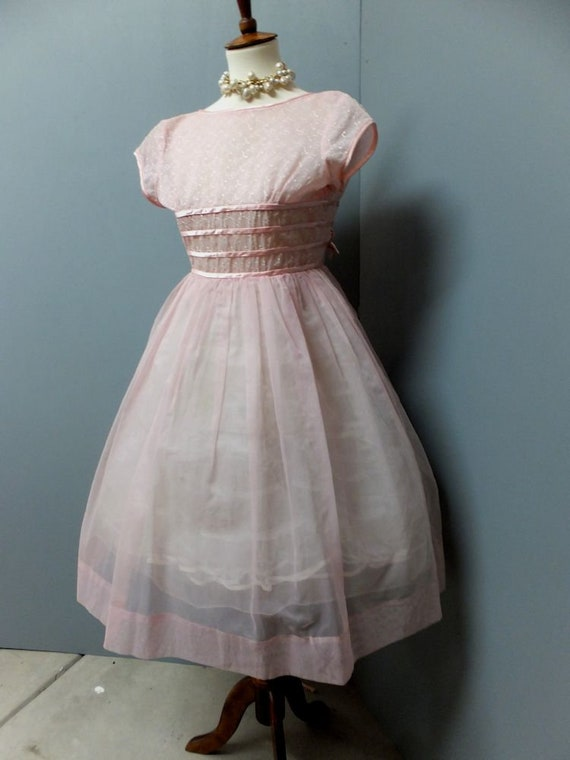Vintage 1950s Dress, New Look, Petiteen Original,