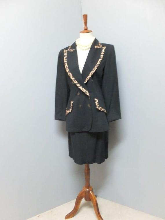Vintage 1990s Hugo Buscati MILANO Suit, Double Bre