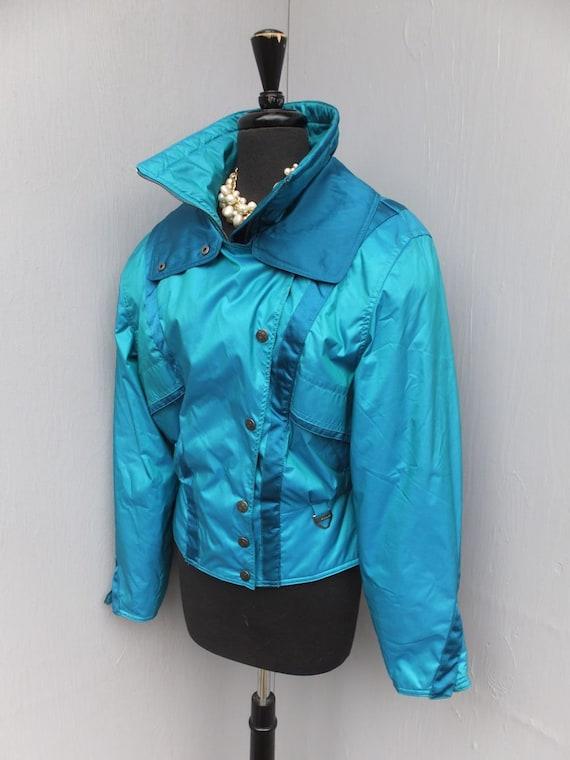 3dec545272 Vintage 80s TYROLIA Skiwear Ski Jacket Blue Ski Jacket size