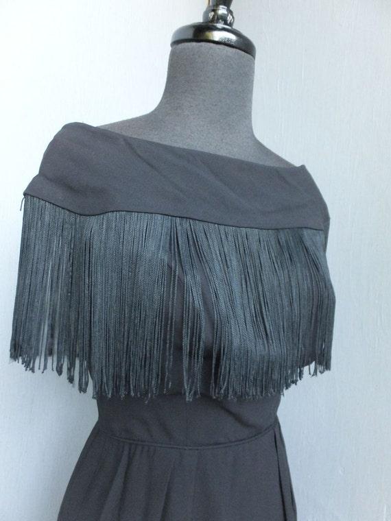 Vintage Dress, Jay Original, 1950s/60s, Fringe, Fl