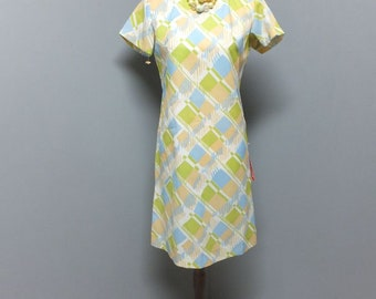 Vintage 60s/70s Dress, Whisper, DEADSTOCK,  Mod Dress, New w/Tag  Size 10, Summer Fashions, Lightweight