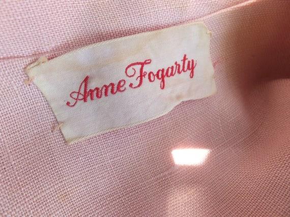 Vintage Suit, Anne Fogarty, Pink Linen Suit, Summ… - image 5